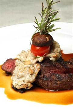 20October2009  American Kobe Sirloin Culotte with Maytag Cheese and Walnut Topping at Webster's in the Radisson.  (John A. Lacko / Special to the Gazette)