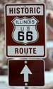 12January2010   Dwight Illinois Route 66 sign.